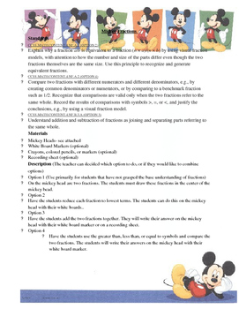 Mickey Fractions