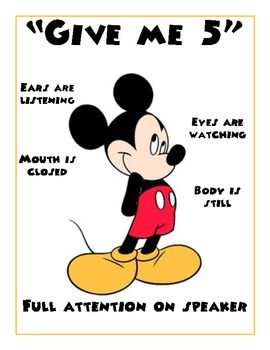 Mickey Give Me 5
