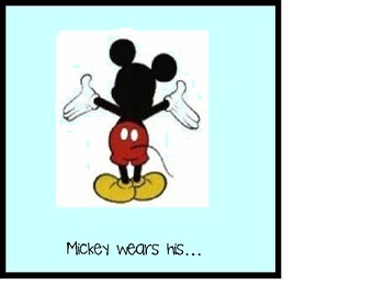 Mickey Goes to School Adapted Book