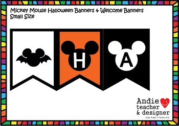 Mickey Halloween Banners / Black and White Banners
