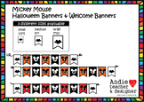 Mickey Inspired Halloween Banners / Black and White Banners