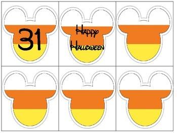 Mouse Ears Halloween Calendar