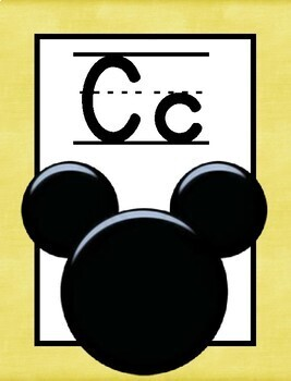 Mickey Head Alphabet