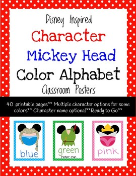 Mickey Head Color Posters