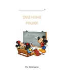 Mickey Homework Folder Cover
