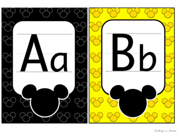 Mickey Inspired Alphabet