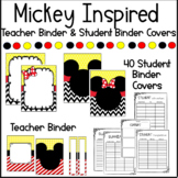 Mickey Mouse INSPIRED Binder Covers & Teacher Binder