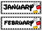 Mickey Inspired Calendar Month Cards