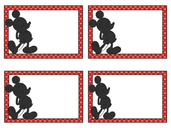 Mickey Inspired Classroom Labels