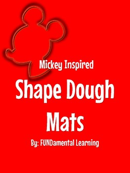 Mickey Inspired Shape Dough Mats