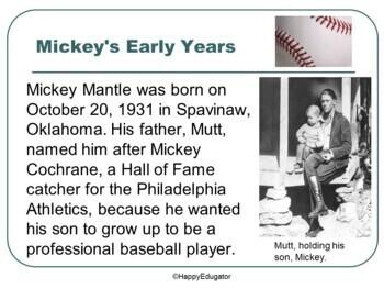 Mickey Mantle - Baseball Legend PowerPoint