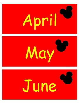 Mickey Months of the Year