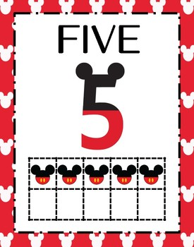 Mickey Mouse 0-10 Number Posters