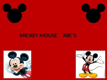 Mickey Mouse ABC Powerpoint Game