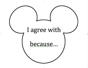 Mickey Mouse Accountable Talk Prompts Cut Outs
