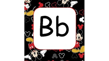 Mickey Mouse Alphabet Cards
