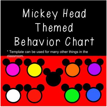 Mickey Mouse Behavior Chart