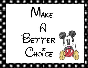 Mickey Mouse Behavior Chart