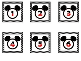 Mickey Black Polkadot Calendar Set