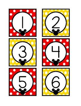 Mickey Mouse Calendar Set!