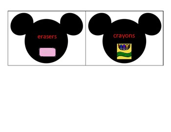 Mickey  Mouse Classroom Labels
