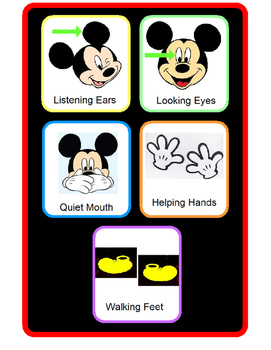 Mickey Mouse Classroom Rules