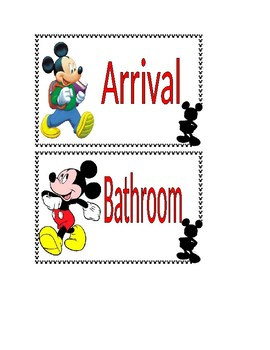Mickey Mouse Classroom Schedule