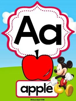 Mickey Mouse Club House Alphabet