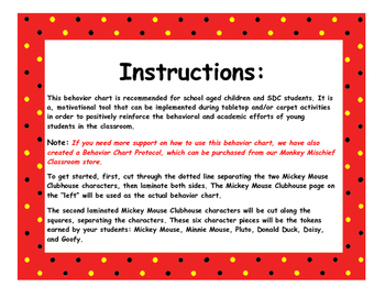Mickey Mouse Clubhouse Behavior Chart!