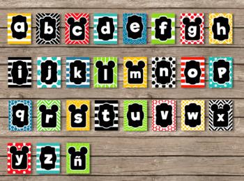 Mickey Mouse Clubhouse Inspired ABC Alphabet Set (English & Spanish)