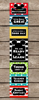 Mickey Mouse Clubhouse Inspired EDITABLE Behavior Clip Chart