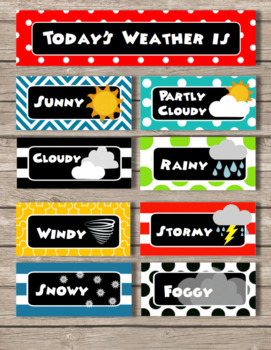 Mickey Mouse Clubhouse Inspired Weather Chart