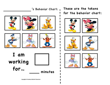 Mickey Mouse Clubhouse Token Behavior Chart!