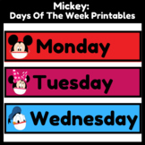 Mickey Mouse (with masks) Days Of The Week (Classroom Decor)