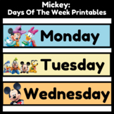 Mickey Mouse Days Of The Week Printable