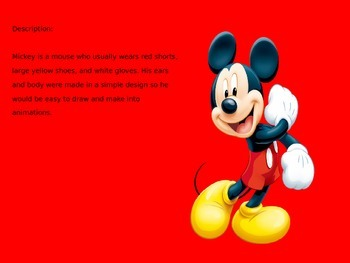 Mickey Mouse - Disney Character Life Story Facts History Pictures