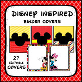 Mickey Mouse/ Disney Inspired Binder Covers EDITABLE