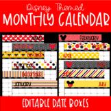 Mickey Mouse Disney Themed Calendar-Editable