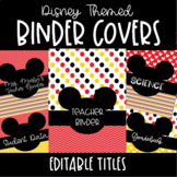 Mickey Mouse Disney Themed Editable Binder Covers