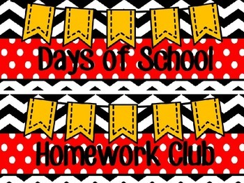M. Mouse Homework Club and Tens Frame Days of School Count