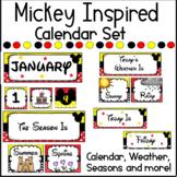 Mickey Mouse INSPIRED Calendar, Weather & Season Set