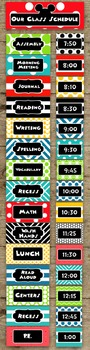 Mickey Mouse Inspired Class Daily Schedule Pocket Chart Ca