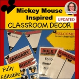 Mickey Mouse Inspired Classroom Decor UPDATED