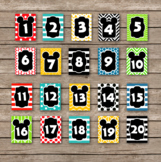 Mickey Mouse Inspired Classroom Numbers 1-20