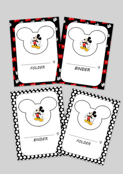 Mickey Mouse Inspired Folder/Binder Cover Sheets