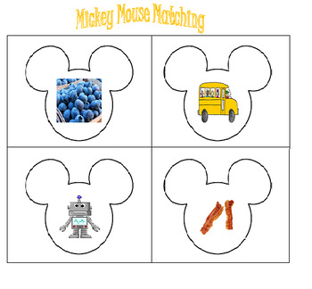 Mickey Mouse Inspired Matching Game