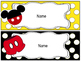Mickey Mouse Inspired Name Plates