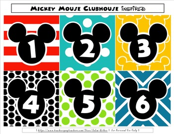 Mickey Mouse Inspired Pocket Chart Calendar / Editable Tags