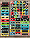 Mouse Ears Pocket Chart Calendar Editable