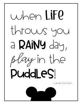 Mickey Mouse-Inspired Walt Disney and Disney Character Quote Posters